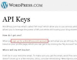 WordPressのアカウント作成ページ