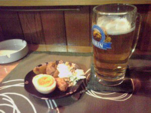 すなっく一津未でビール