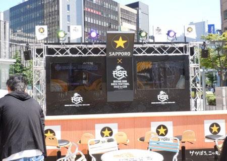 札幌駅南口広場ビアガーデン