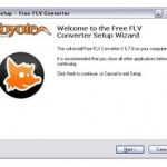 Free FLV Converter インストール