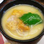 根室花まる 塩水うにと白魚の冷たい茶碗蒸し