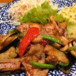 中華食堂りょう 豚肉と茄子の四川辛味炒め定食