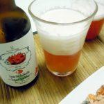 のぼりべつ地ビール館のシシリアンルージュトマト発泡酒